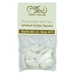 Tips Cut Out Square - Whitest White - size 0