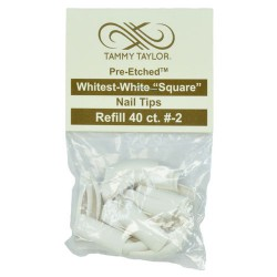 Tips Cut Out Square - Whitest White - size 2