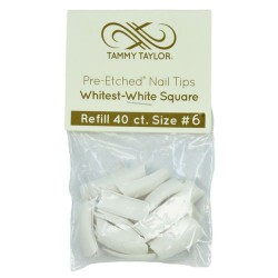 Tips Cut Out Square - Whitest White - size 6