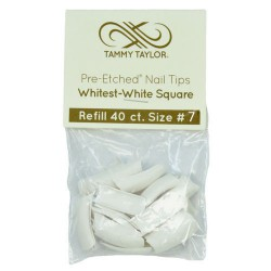 Tips Cut Out Square - Whitest White - size 7