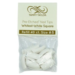Tips Cut Out Square - Whitest White - size 8