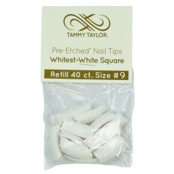 Tips Cut Out Square - Whitest White - size 9